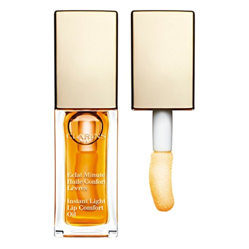 Clarins Eclat Minute Instant Light Lip Comfort Oil, No. 01 Honey, 0.1 Ounce