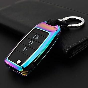 Amazon.com: WAFERN - Funda de piel para llave de coche KIA ...
