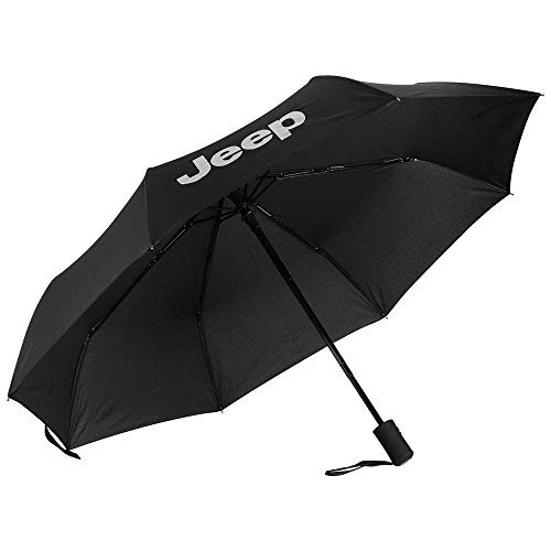 Patricon Fully Automatic Sport Open Large Folding Black Umbrella Windproof Sunshade with Car Logo for Jeep Accessory