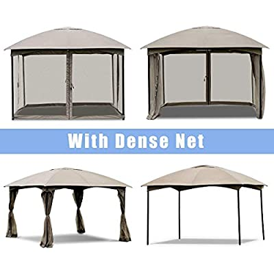 11.5' x 11.5' Fully Enclosed Outdoor Gazebo Removable 4 Walls Home Garden Lawn Living Outdoors Structures Canopies Shade Yard Awnings Marquees, Tents, Baldachin, Baldaquin, Balcony, Backyard, Patio. : Garden & Outdoor