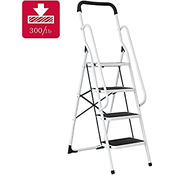 Easylife Steel Safety Four Step Ladder With Support Rails