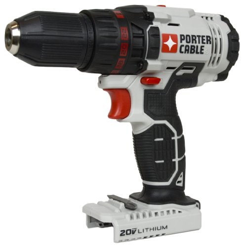 Porter Cable PCC601 PCC601B 1/2'' 20V MAX Lithium Ion Drill Driver (Tool Only) by PORTER-CABLE