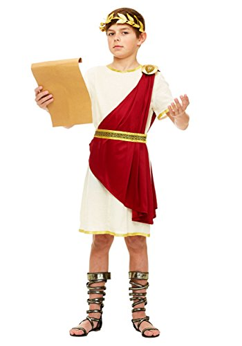 Childs Roman Toga Costume (Boys Roman Senator Costume Large)