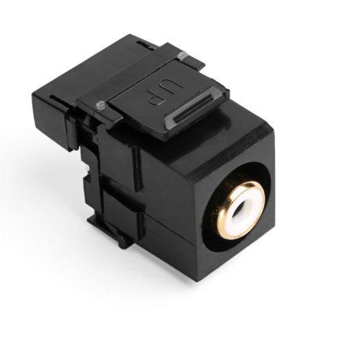 leviton-40735-rwe-quickport-rca-110-type-white-barrel-black-by-leviton