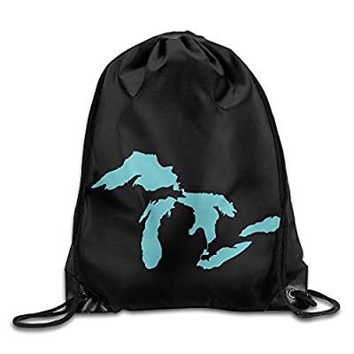 Map Of The Great Lakes Cool Drawstring Backpack String Bag