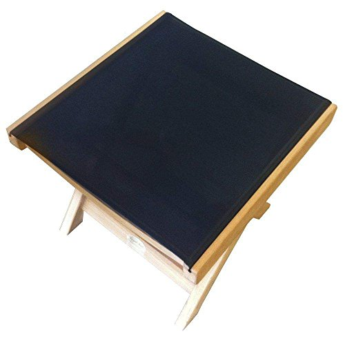 Royal Teak Collection FRBS Teak Sling Footrest, Black by Royal Teak Collection