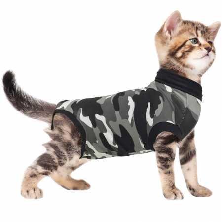Suitical Recovery - Gato, XXX, pequeño, camuflaje negro: Amazon.es: Productos para mascotas