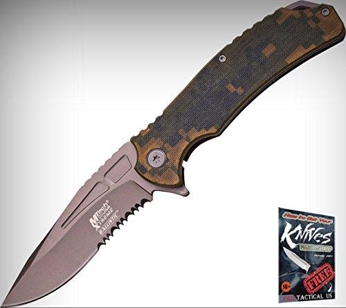 M-Tech Xtreme A834DGS Folding Limited Elite Knife Folder Blade Digi Camo Handle + free eBook by ProTactical'US (Camo Folder Digi)