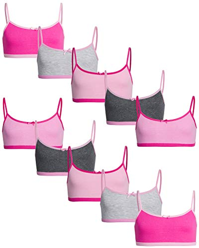 Sweet Princess Girls Cotton/Spandex Cami Crop Training Bra (10 Pack)