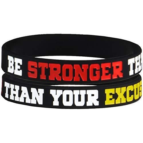 AMPM Collective | Silicone Motivational Wristbands | Rubber Inspirational Quote Bracelets | Unisex for Men Women Teens | for Daily Gym Workout Perseverance and Exercise Motivation (6 Pack) 3