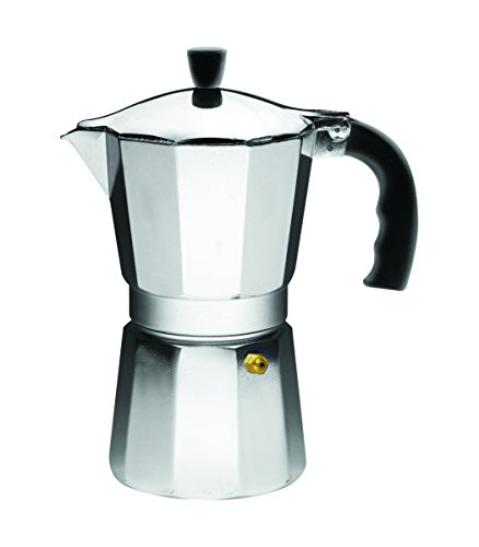 IMUSA USA B120-44V Aluminum Stovetop Coffeemaker 9-Cup, Silver Coffee Pot Aluminum 9 Cup