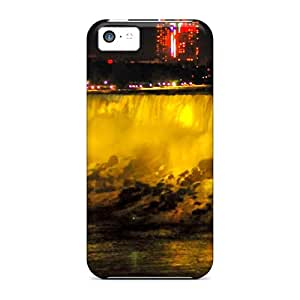Hot YzV3088KUhw Cases Covers Protector For Iphone 5c- Waterfall At Night