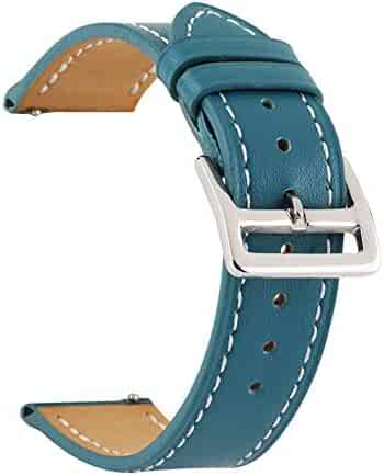 Genuine Leather Watch Band Classic Wristwatch Replacement Accessories Choice of Width 18mm/20mm/22mm/24mm
