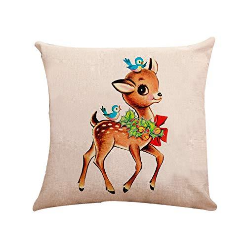 Pausseo Christmas Pillowcase, Xmas Santa Claus Pillow Covers Cushion Sofa Waist Throw Pillowcase Home Decoration Office Car Bed Decor Wrinkle Resistant Hypoallergenic Pillowslip Set