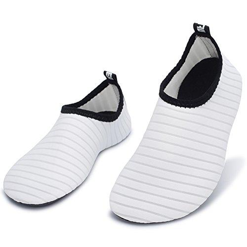 Barerun Kids Men Women New Light Weight Comfort Sole Easy Walking Athletic Slip On Water Shoes (37/38,6.5-7.5 B(M)) White … by Barerun (Image #5)