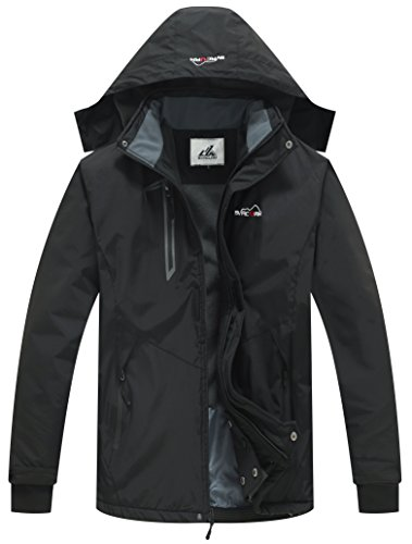 svacuam Men's Hooded Outdoor Sportswear Windbreaker Rain Coat
