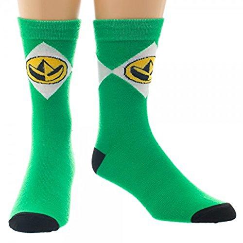 (Green Power Ranger Crew Sock)