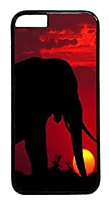 Lovers Gifts IMARTCASE iPhone 6 Case, African Elephant Sunset Customize Design Hard Case Cover for Apple iPhone 6 4.7 1823470M28545356