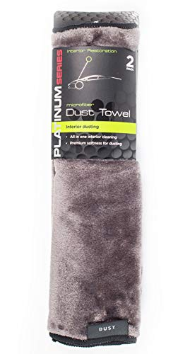 Microtex Platinum Series 2-Pack Microfiber DUST Towel Interior Cleaning Car Home