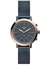 Q Women's 'Hybrid Smartwatch' Quartz Stainless-Steel-Plated Smart Watch, Color:Blue (Model: FTW5031)