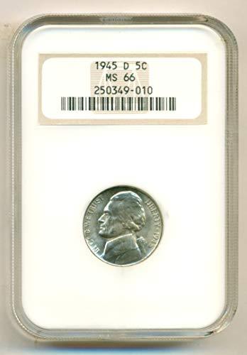 1945 D Jefferson Silver Nickel MS66 NGC (Mint Nickel Ngc Jefferson)