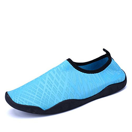 Pebbles Fit Against and Swimming for Easy Water Mens Blue3 Sand for Socks Protects Footwear Women Rocks 41YxqzPYwc