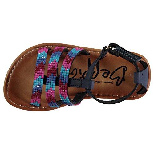 Beppi Niños 3 Strap Sandals Azul