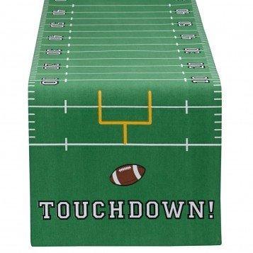 Design Imports Touchdown Table Runner (Felt Football Field)