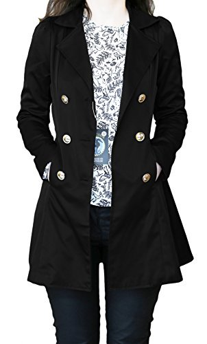 SODACODA Women`s Hourglass Trench Coat - Black - XL