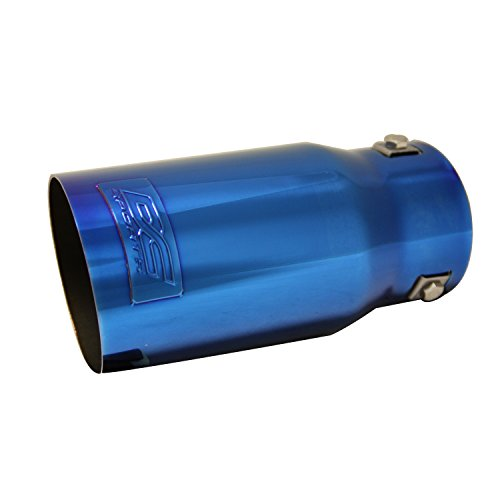 DC Sports EX-1022 Metallic BlueHigh Performance Exhaust Tip - Polished Stainless - Walker Exhaust Tip