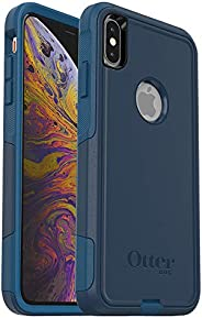 OtterBox COMMUTER SERIES Case for iPhone Xs Max - Retail Packaging - BESPOKE WAY (BLAZER BLUE/STORMY SEAS BLUE