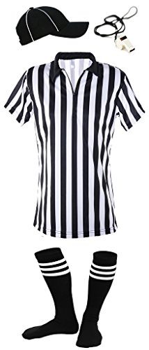 Mato & Hash Women's 1/4 Zip-up Quarter-Zip Referee Short Sleeve Ref Tee Shirt - RS CA1500 L-HVS-W-SY