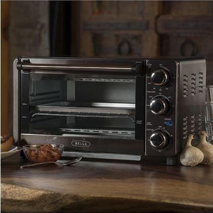4-Slice Toaster Oven | Black Stainless Steel Finish