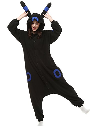 Es Unico Pokemon Umbreon Adult Onesie, Halloween Kigurumi Pajama Costume for Women, Men, Teenagers (X-Large) for $<!--$28.99-->