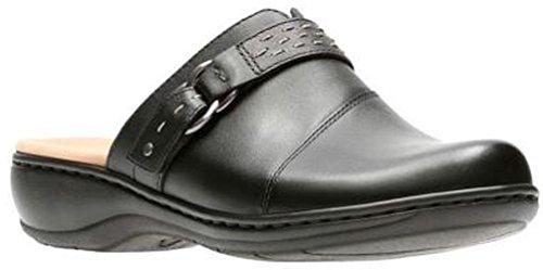 Clarks Leather Slides (Clarks Women's Leisa Sadie Mule, Black Leather, 8 M US)