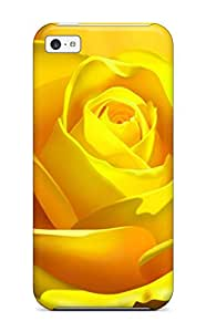 Faddish Phone 3d Yellow Rose Case For Iphone 5c / Perfect Case Cover 9020386K59815071
