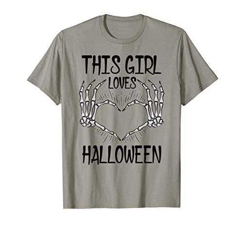 This Girl Loves Halloween Shirt For Girls Wife T-Shirt