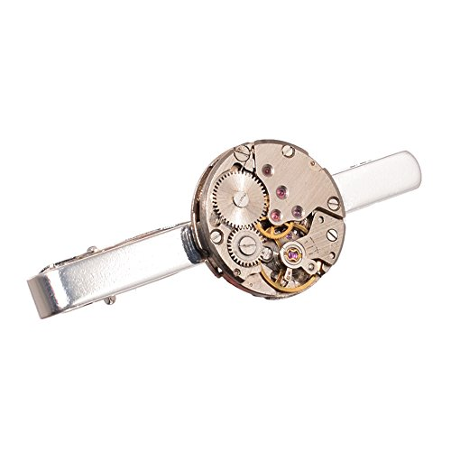 GRACEART Steampunk Watch Movement Tie Clip Lapel Pin from GRACEART