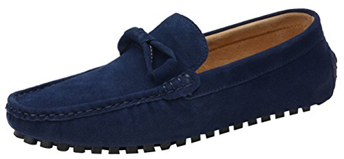 Abby 1988 Mens Slip-on Round Toe Casual Loafers Distinguished Moccasins Driving Lint Slippers Blue UjVvsTrUis