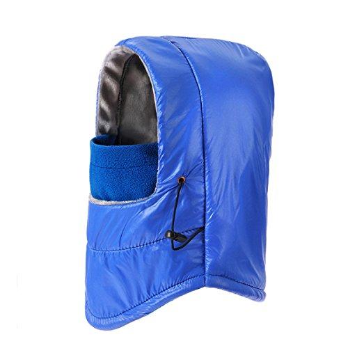 SOOCO Mens Winter Warm Bomber Hat A Prueba De Viento Mask Winter Ear Flap Unisex Ushanka Para El Esquí De Patinaje Hiking Azul