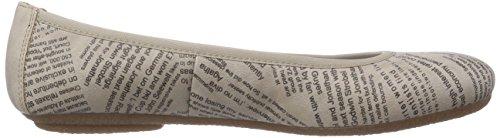 Rieker 41439 - Bailarinas de material sintético para mujer beige - Beige (marble / 60)
