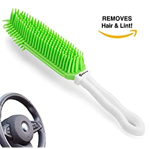 Dasksha Best Car & Auto Detailing Brush for Pet Hair Removal – Best Pet Hair Remover for Dog & Cat Hair – Great On Furniture (Bedding, Carpets, Blankets) – Use As A Lint Remover