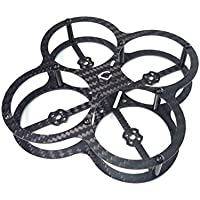 Usmile 80mm Micro Carbon Fiber Quadcopter Frame Kit with Prop Guard for Indoor Outdoor FPV racing Support for 1102 1103 1104 1106 7500KV Brushless Motor Piko BLX PB F3 Flight Controller FX798t