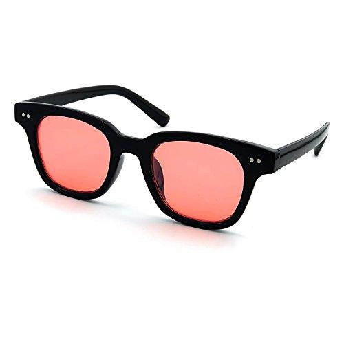 Negro de de la ESTILO Rojo la Gafas Gradiente VENDIMIA mujer sol hombre BOXER MOSCOT de de moda KISS® mod de unisex qwzOH7