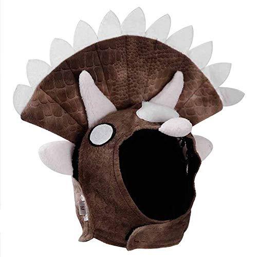 Pet house 928GG77 Casquillo Decorativo del Perro del diseño del Dinosaurio del Sombrero,borgoña,30-42 cm