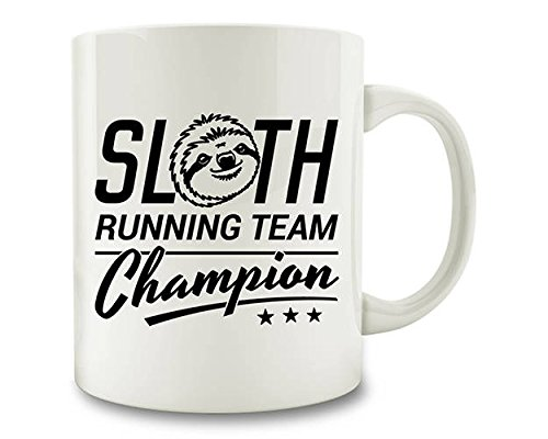 Gift for Runner, Slow Runner, Sloth Running Team Champion Coffee Mug, 11oz, 15oz, gift Team 3d Cup