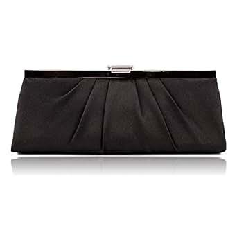 Jessica McClintock 450970 Rectangle Clutch,Black,one size