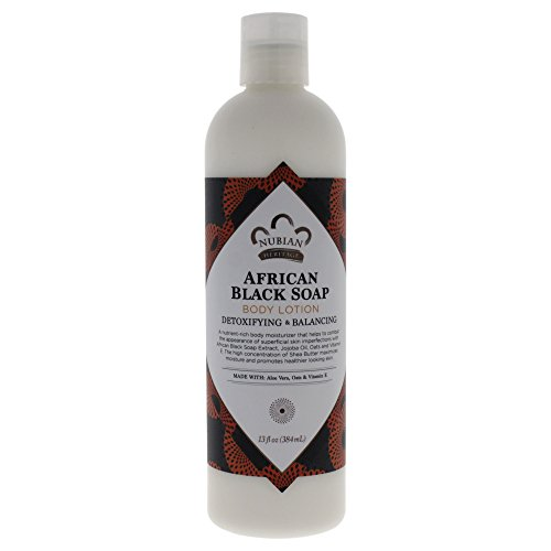Price comparison product image Nubian Heritage Lotion, African Black Soap, 13 Fluid Ounce