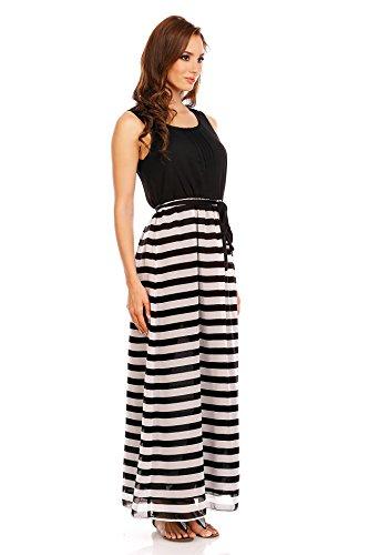 Mia Suri - Vestido - para mujer White/Black Stripes