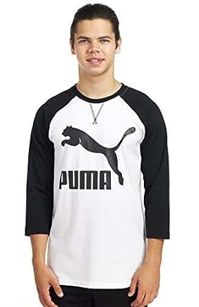 Puma Mens Xlong Raglan Shirt Medium Black